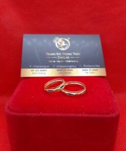 Nhẫn lông voi phong thủy 2 vành vàng RIOGEMs