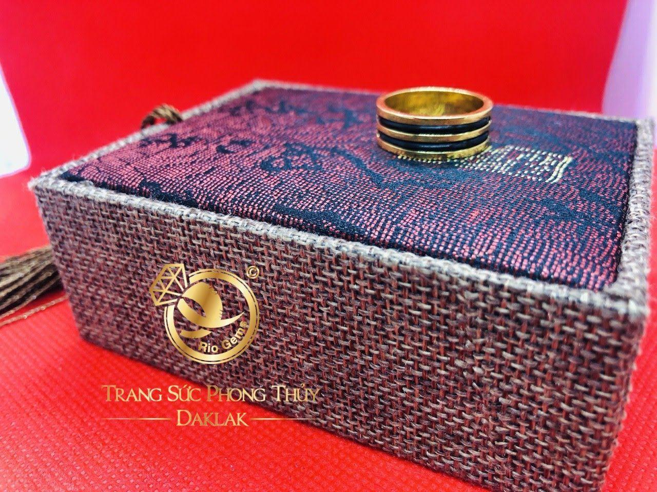 Nhẫn lông voi 2 vòng làm tay chất