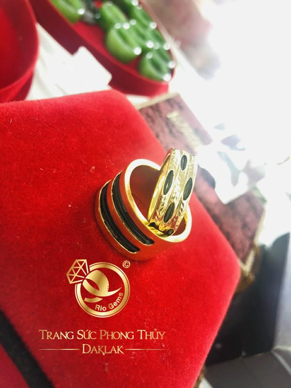 Nhẫn lông voi 3 vòng bằng vàng 18k rẻ