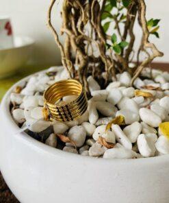Nhẫn lông voi 5 sợi vàng phong thủy RIOGEMs