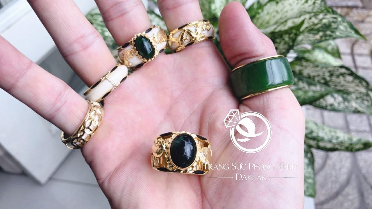 Nhẫn lông voi vàng nam