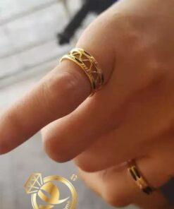 Nhẫn lông voi dích dắc vàng phong thủy Riogems