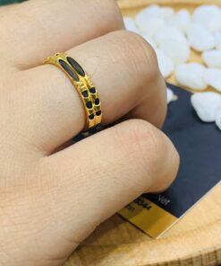 nhẫn đôi lông voi vàng 18K RioGems