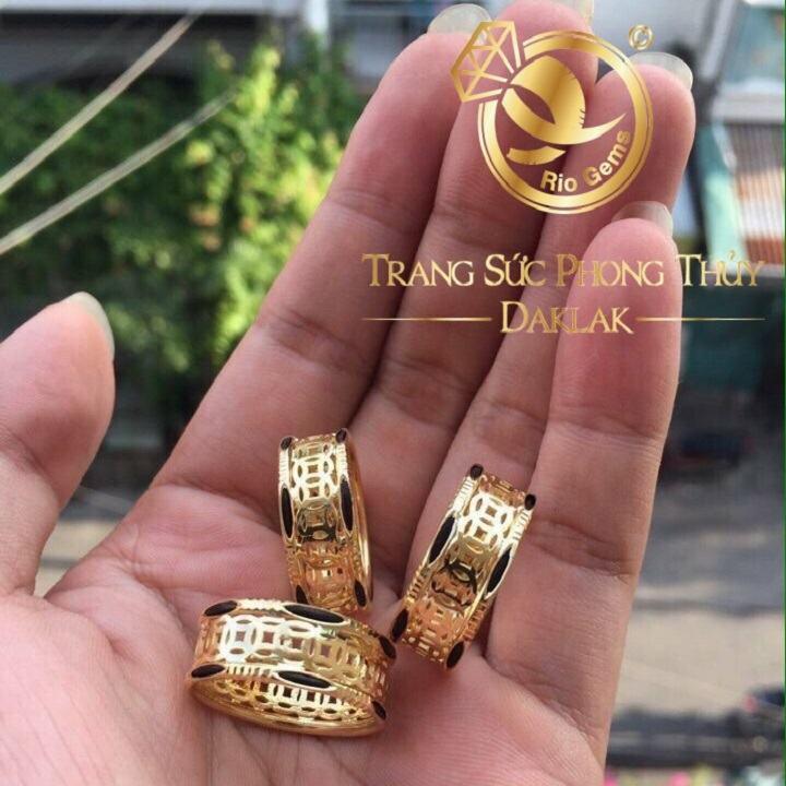 Nhẫn lông voi đồng tiền 2 lông đẹp