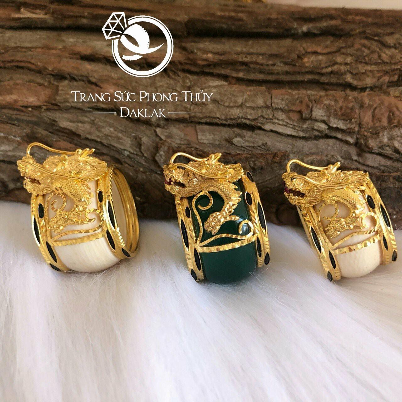 Nhẫn lông voi hình rồng vàng hot