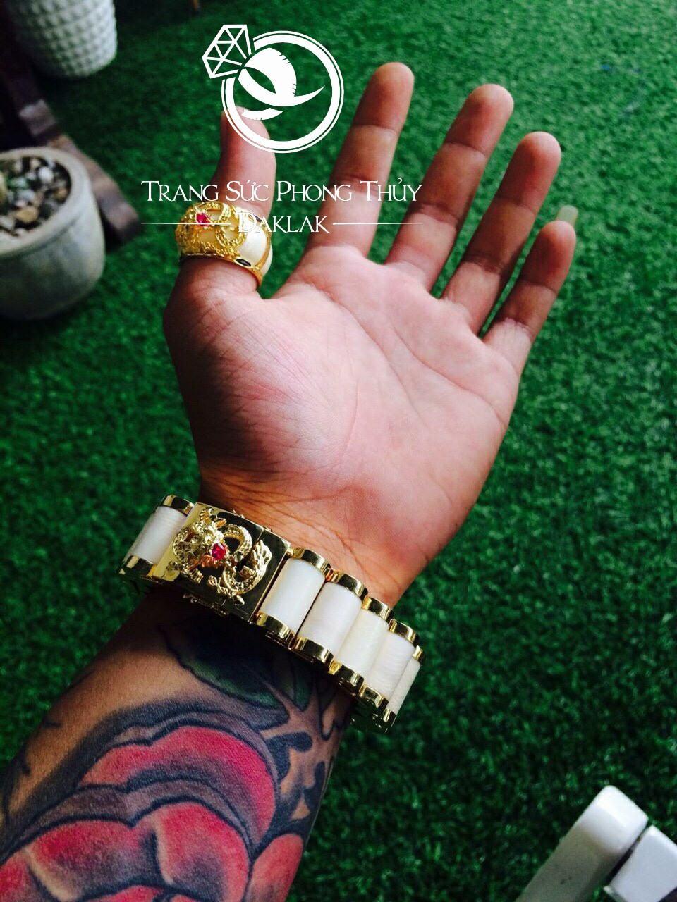Nhẫn lông voi hình rồng vàng rẻ