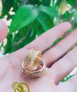 nhẫn lông voi kim tiền đính đá Riogems