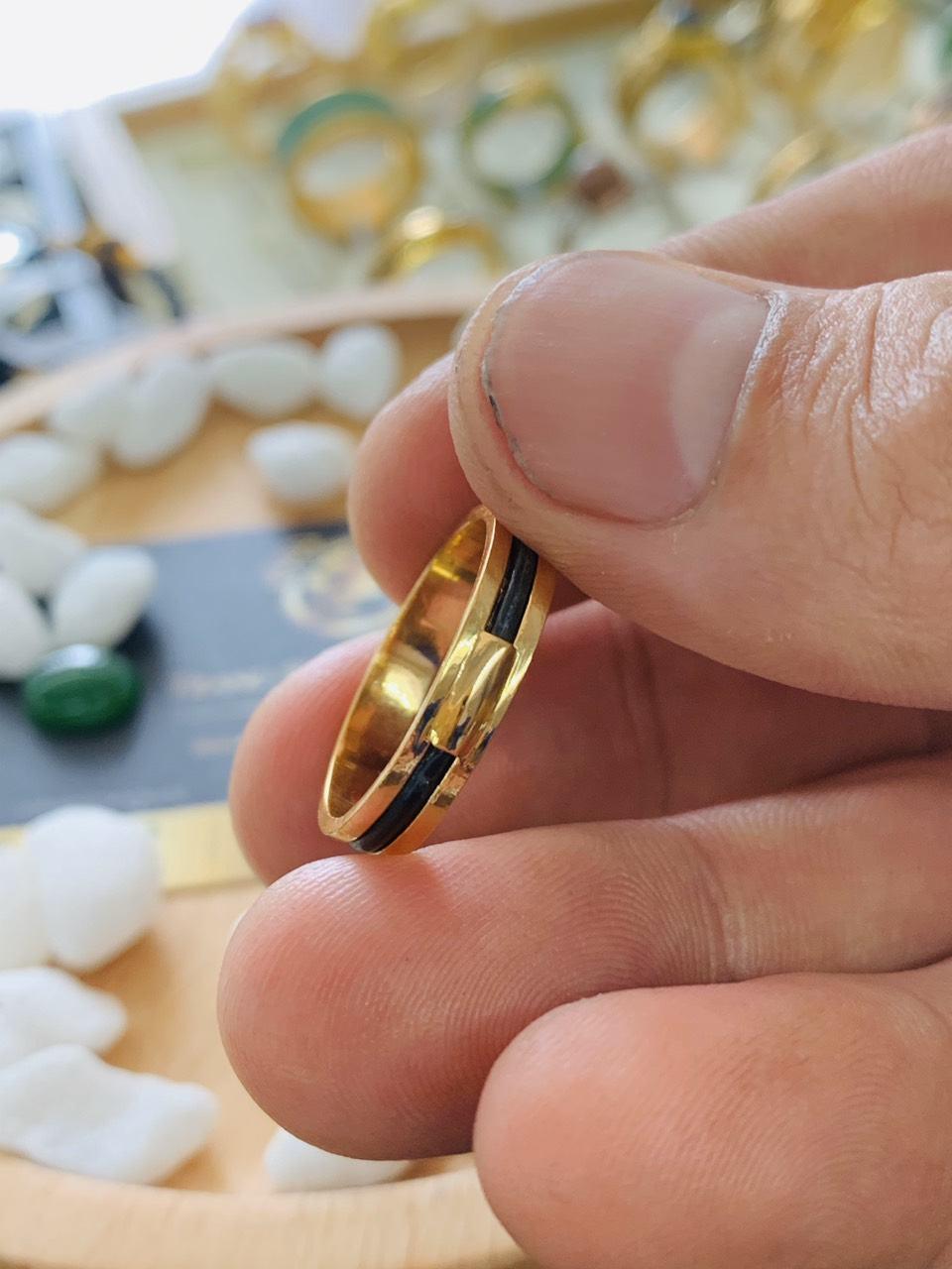 Nhẫn lông voi làm tay 1 sợi loại mỏng RioGems