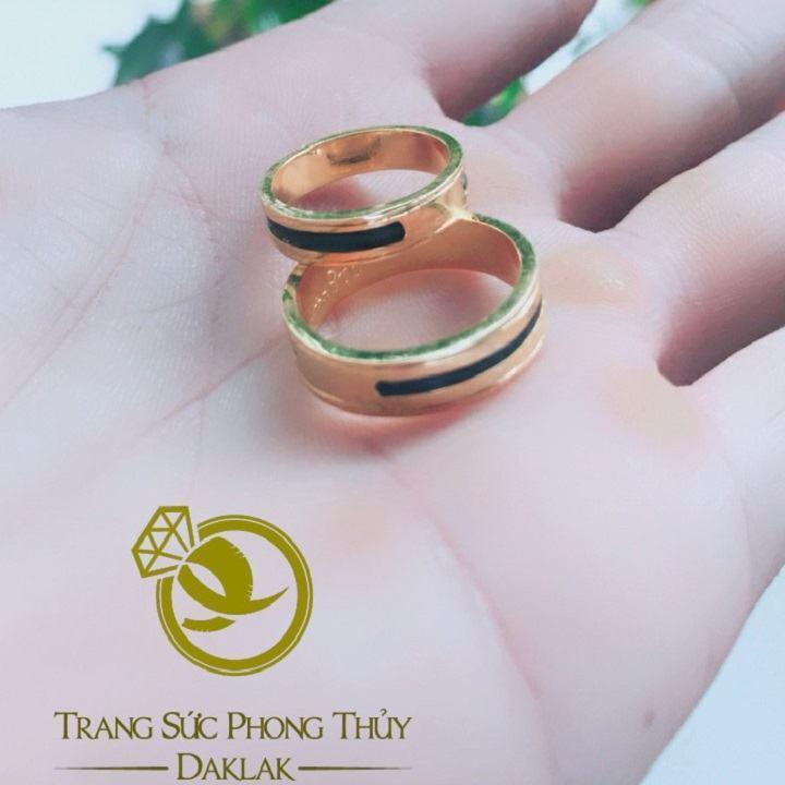 Nhẫn lông voi làm tay 1 sợi vàng phong thủy Riogems