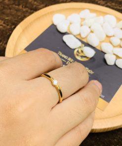 Nhẫn lông voi mệnh KIM, mệnh THỦY vàng phong thủy RioGems