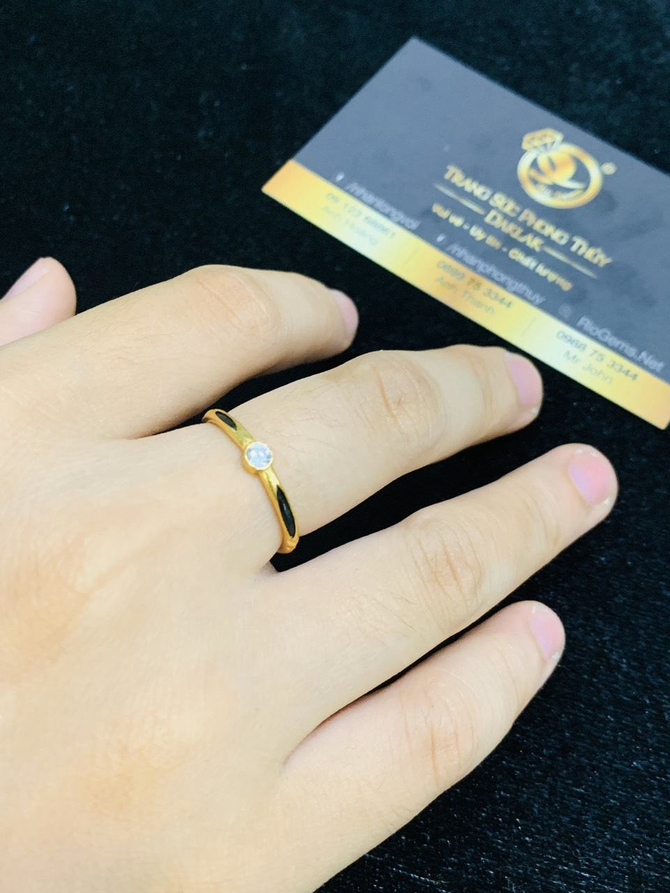 Nhẫn lông voi mệnh KIM, mệnh THỦY vàng phong thủy