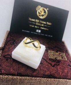 Nhẫn lông voi vô cực cho nữ – Nhẫn thương hiệu Logo RIOGEMs