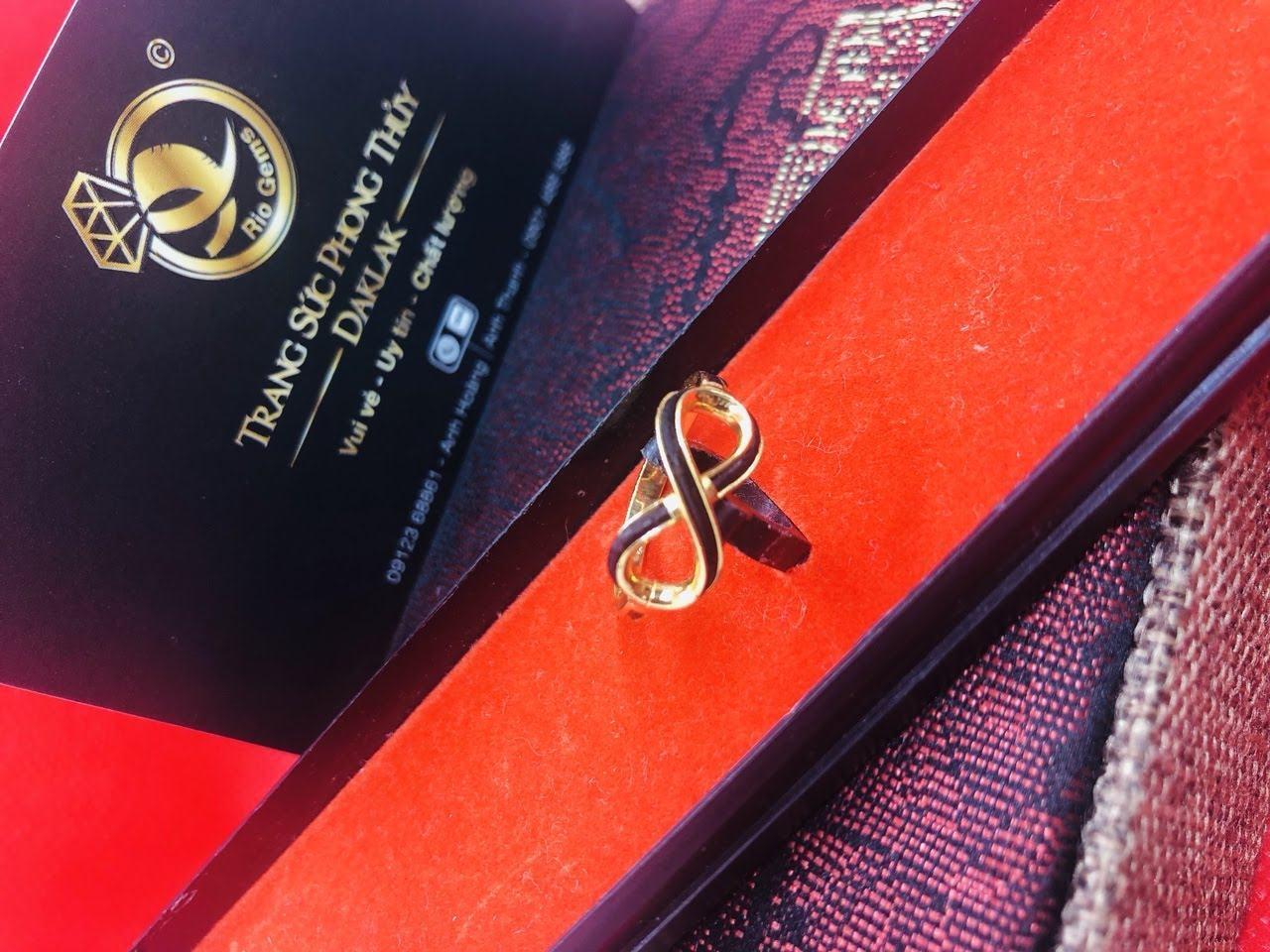 Nhẫn lông voi nữ đẹp logo RioGems tphcm