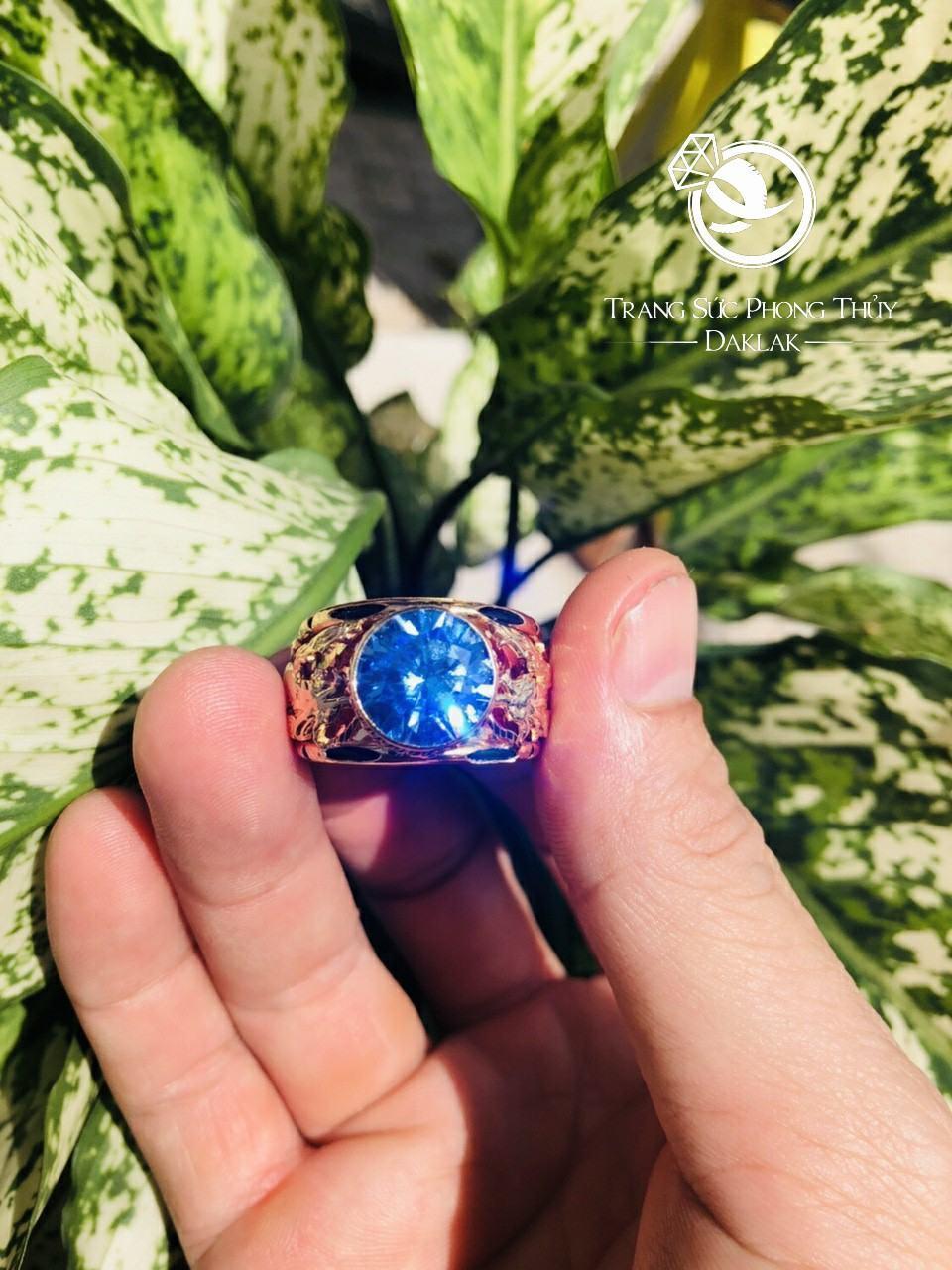 Nhẫn lông voi rồng đá xanh chất lượng