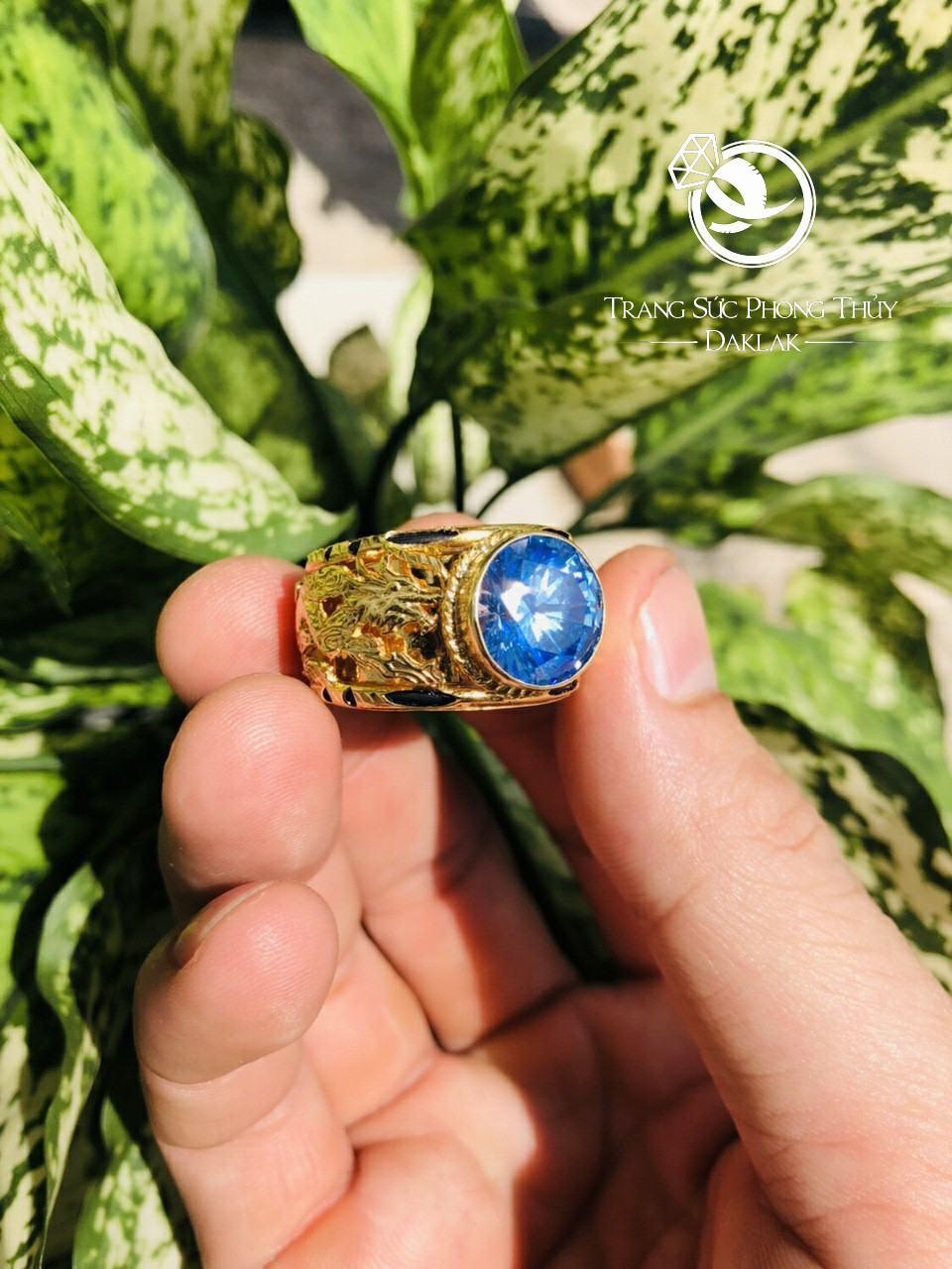 Nhẫn lông voi rồng đá xanh giá rẻ
