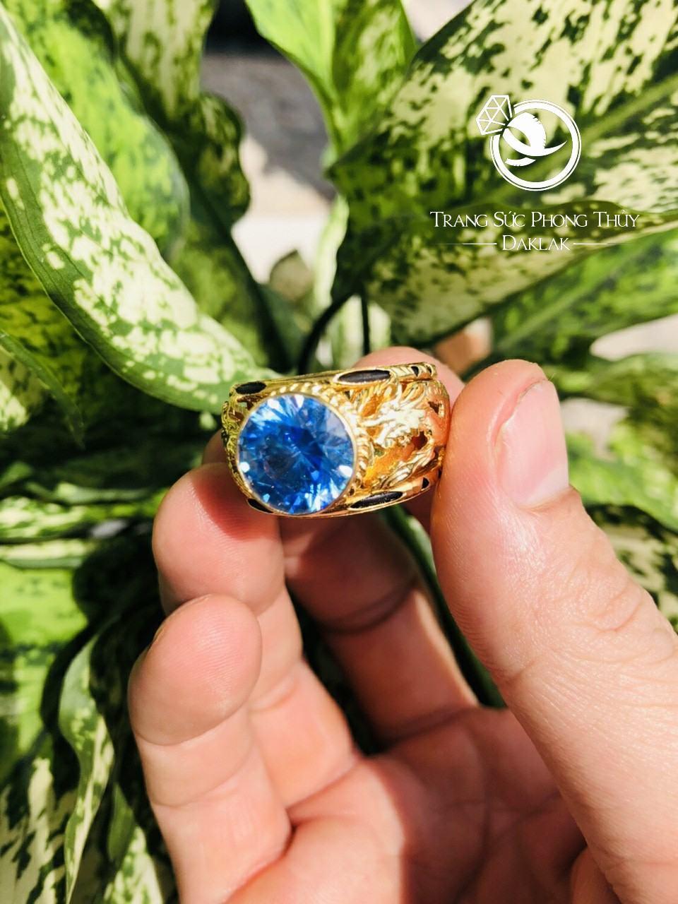 Nhẫn lông voi rồng đá xanh mới