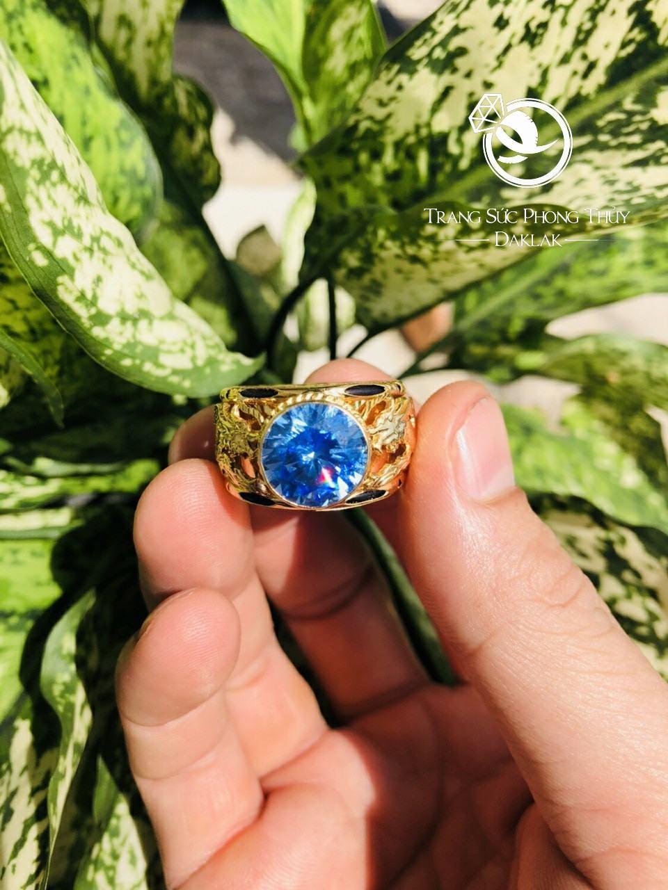 Nhẫn lông voi rồng đá xanh uy tín