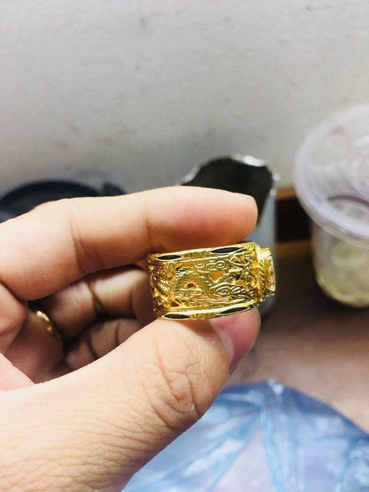 Nhẫn Rồng Rồng vàng 18K đính đá