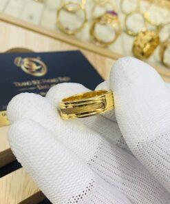 Nhẫn lông voi trắng Handmade vàng phong thủy RIOGEMs
