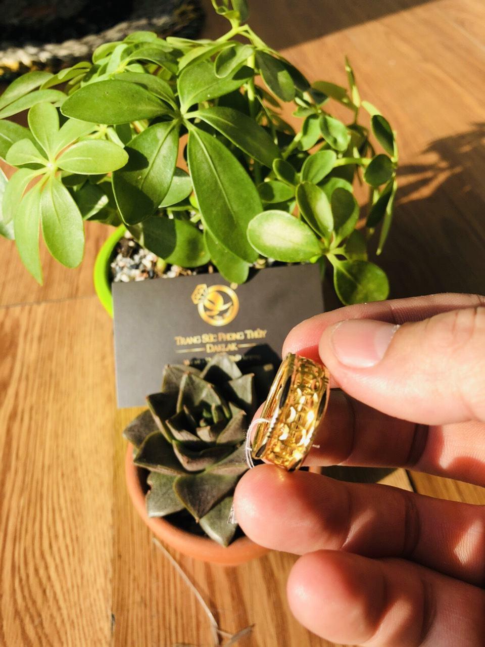 Nhẫn lông voi vàng đẹp kim tiền đẹp