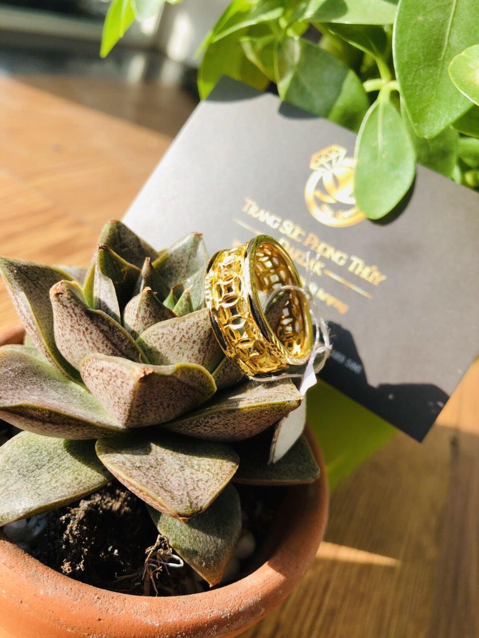 Nhẫn lông voi vàng đẹp kim tiền giá rẻ
