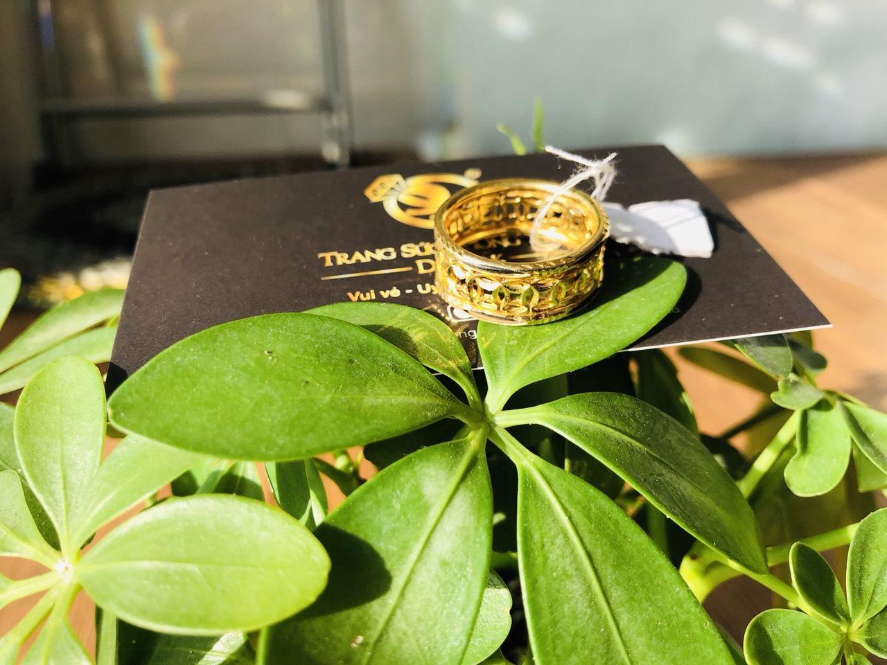 Nhẫn lông voi vàng đẹp kim tiền hot
