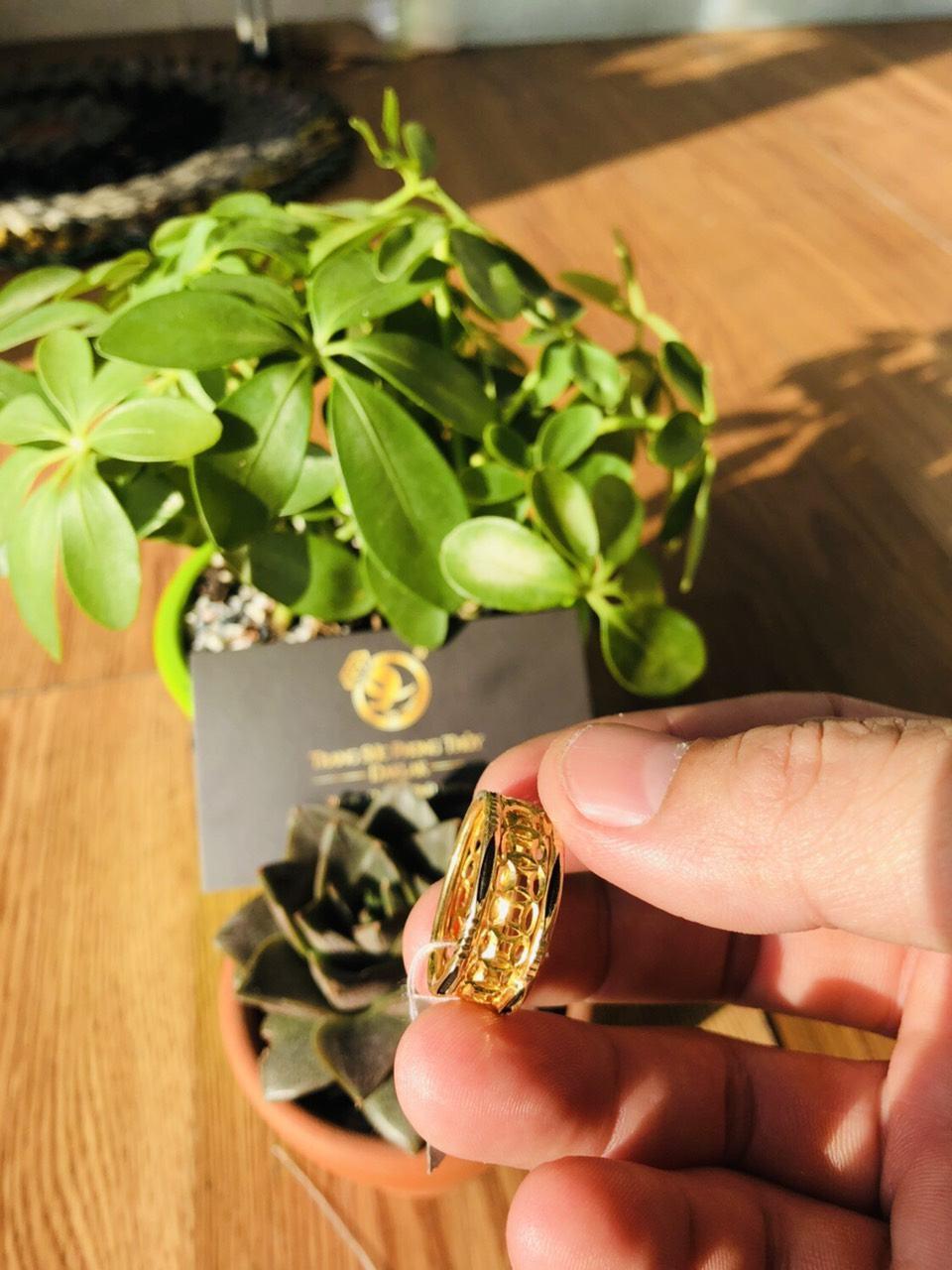 Nhẫn lông voi vàng đẹp kim tiền bền