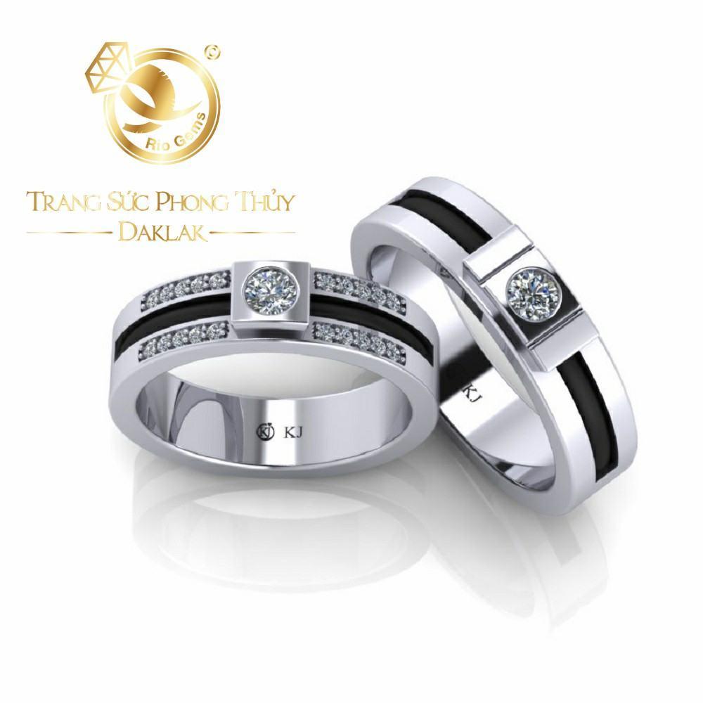 Nhẫn lông voi vàng trắng uy tín