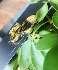 Nhẫn lông voi xoay 360 vàng phong thủy Riogems