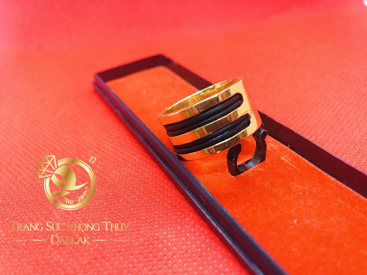 Nhẫn luồn lông voi 4 lông làm tay đẹp