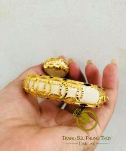Nhẫn nữ 5 đồng tiền VÀNG 18K phong thủy