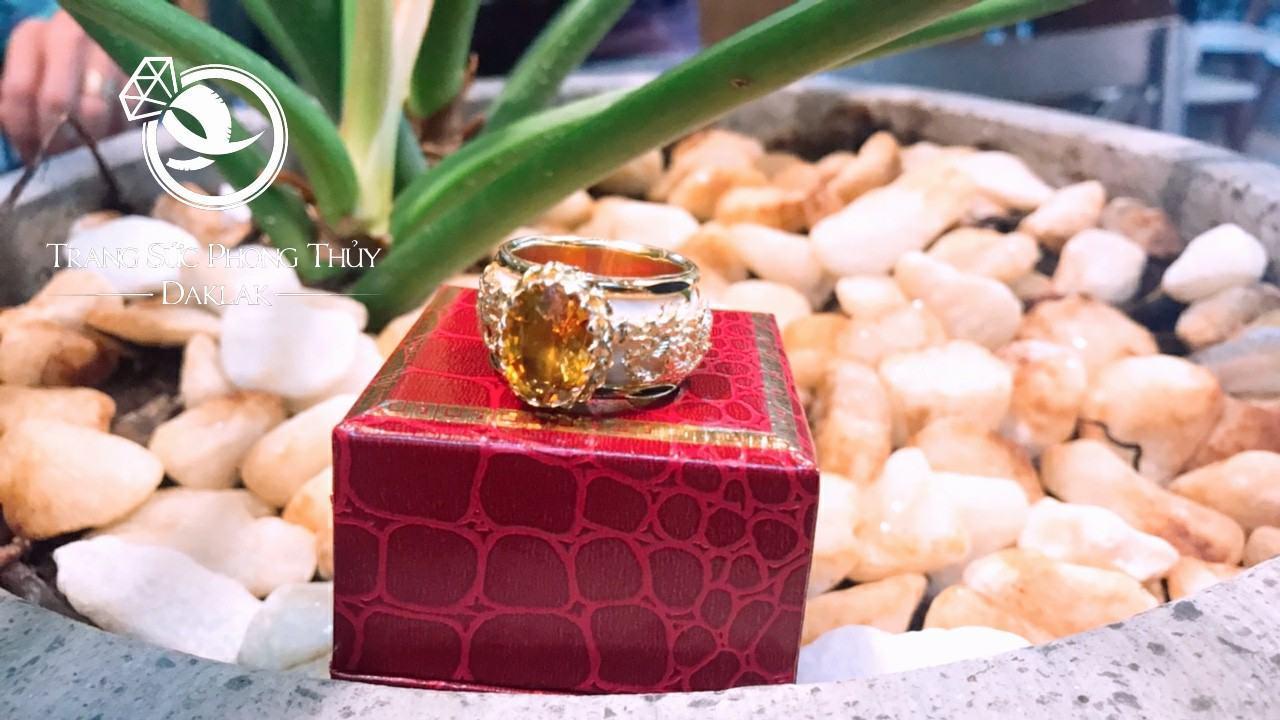 Nhẫn phong thủy cho nam lông voi đá vàng giá rẻ