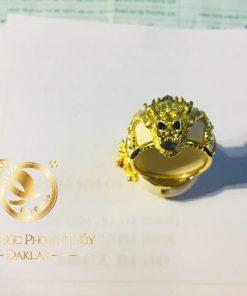 Nhẫn phong thủy đẹp rồng 3D vàng giá trị