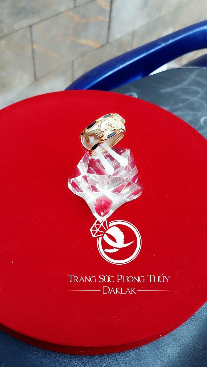 Nhẫn vàng phong thủy giá rẻ rồng ngang chất lượng