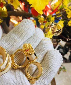Nhẫn rồng thè 3D vàng phong thủy cực đẹp