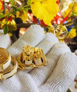 Nhẫn rồng thè 3D vàng phong thủy