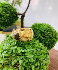 Nhẫn phong thủy tuổi DẬU vàng 18K đính đá Zircon