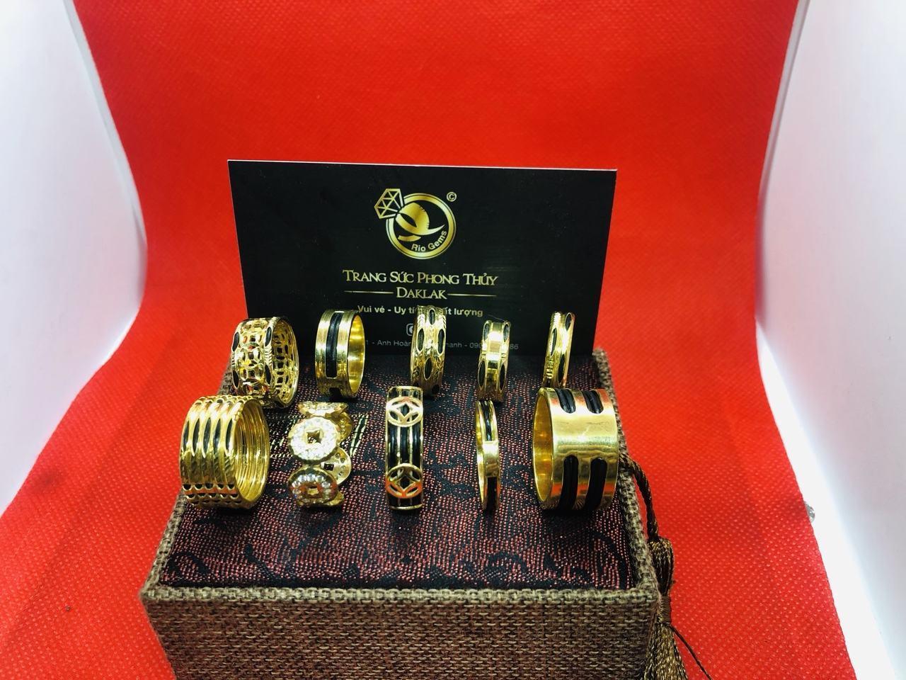 Nhẫn lông voi vàng 14k đẹp nhiều kiểu dáng chất lượng