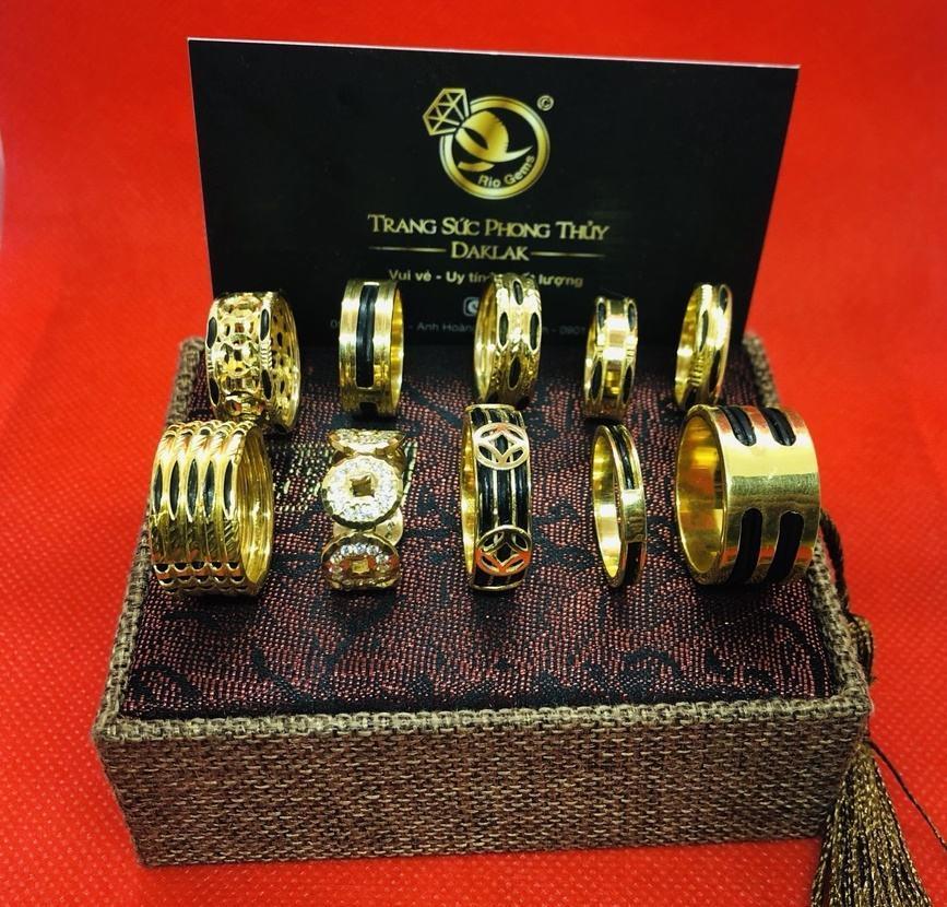 Nhẫn lông voi vàng 14k đẹp nhiều kiểu dáng đẹp