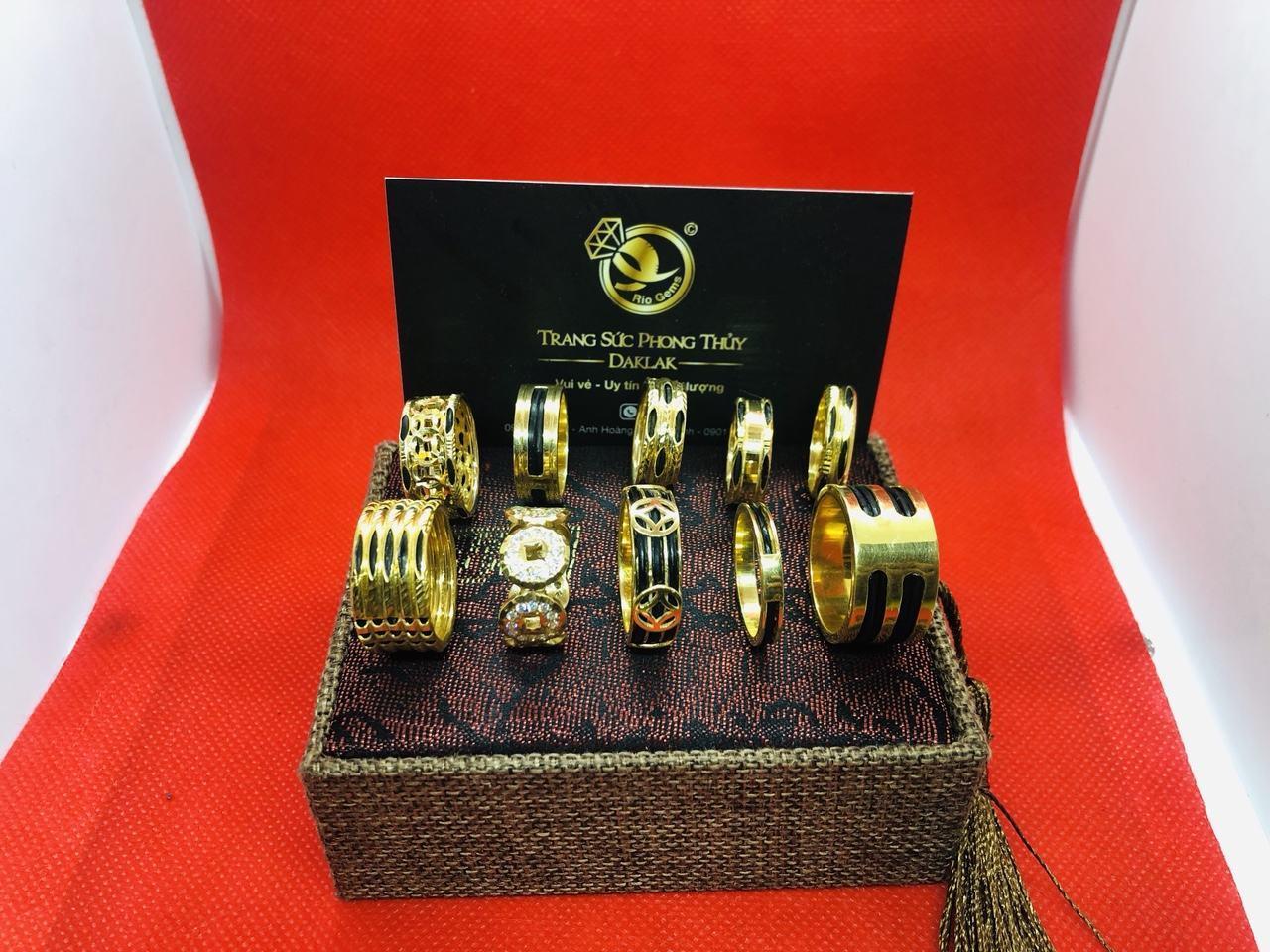 Nhẫn lông voi vàng 14k đẹp nhiều kiểu dáng giá rẻ