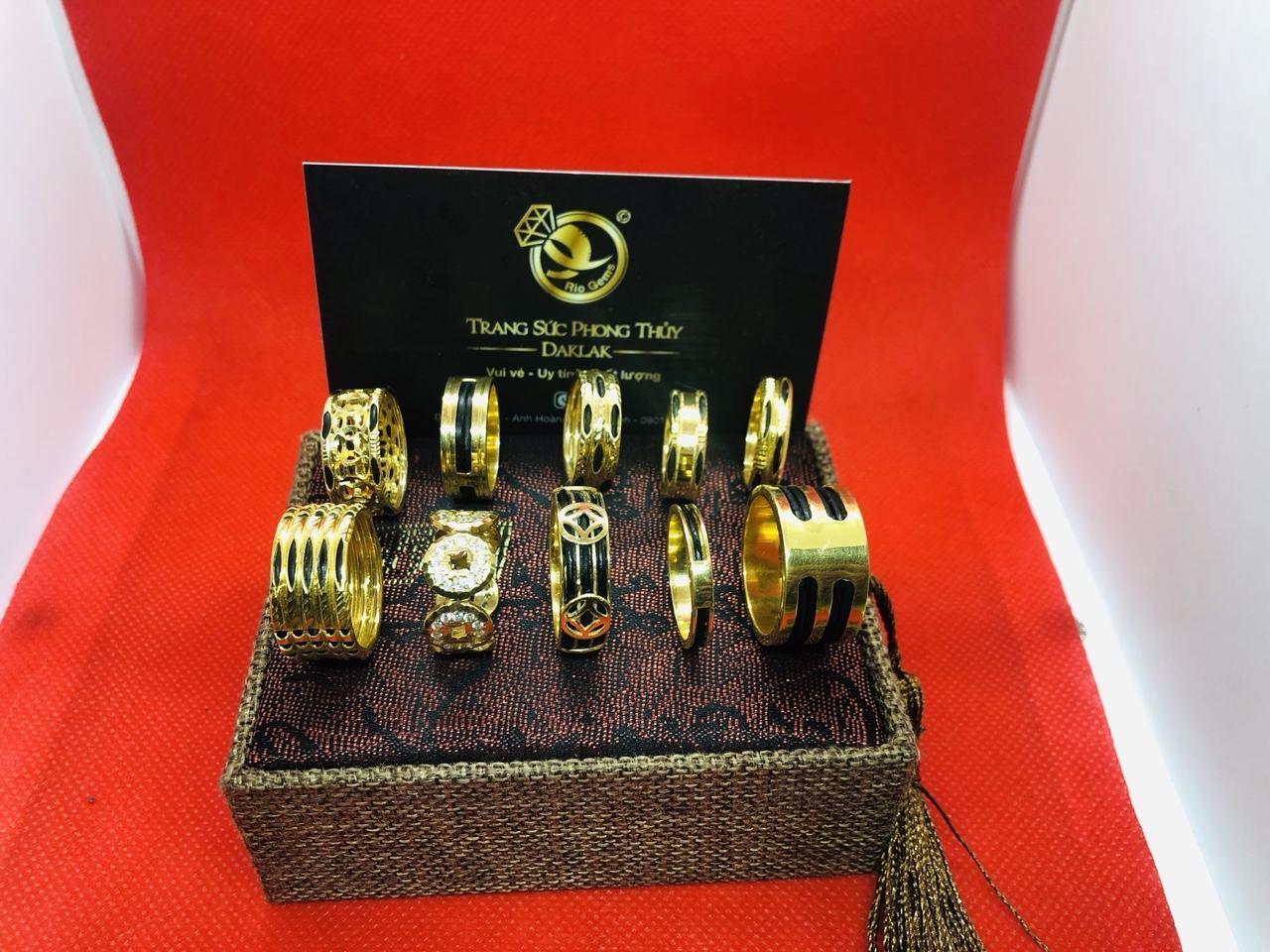 Nhẫn lông voi vàng 14k đẹp nhiều kiểu dáng hot