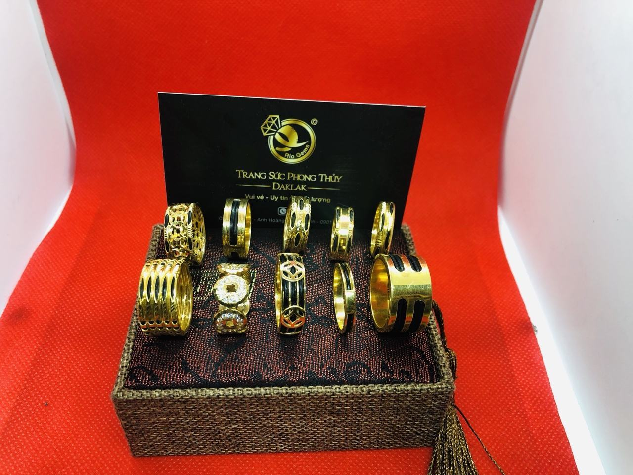 Nhẫn lông voi vàng 14k đẹp nhiều kiểu dáng may mắn