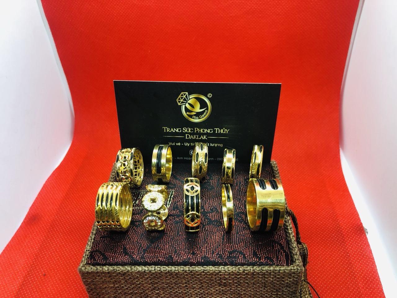 Nhẫn lông voi vàng 14k đẹp nhiều kiểu dáng mới