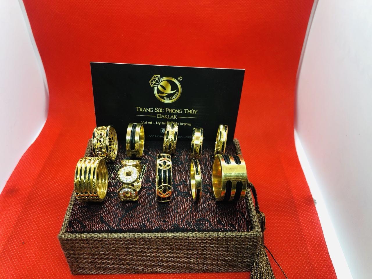 Nhẫn lông voi vàng 14k đẹp nhiều kiểu dáng phong thủy