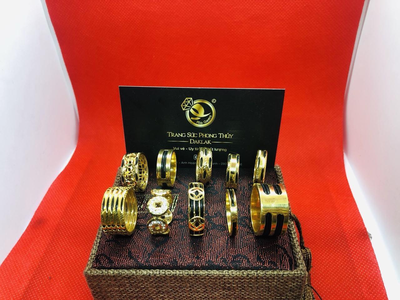 Nhẫn lông voi vàng 14k đẹp nhiều kiểu dáng tphcm