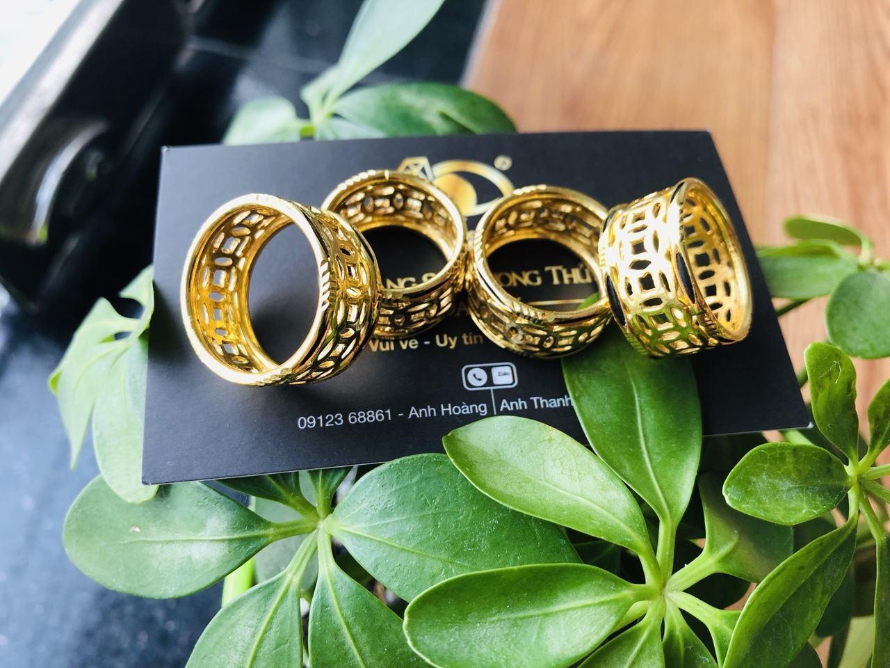 Nhẫn lông voi vàng 24k kim tiền Riogems giá rẻ