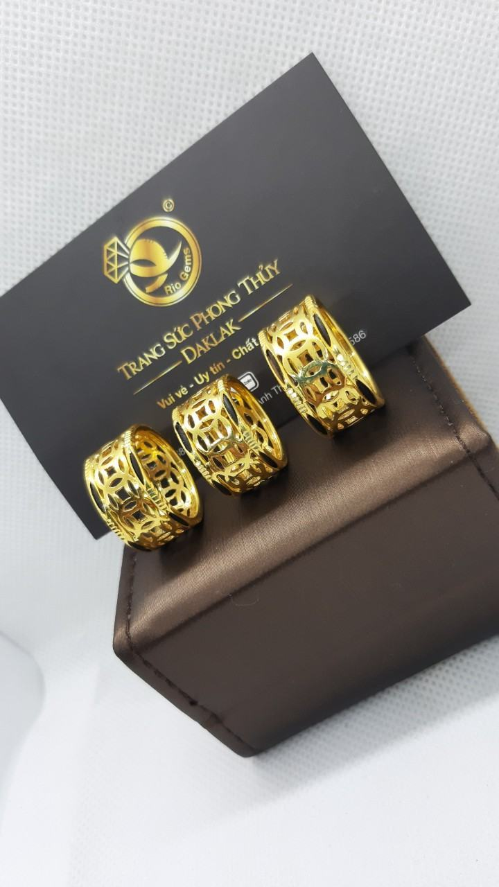 Nhẫn lông voi vàng 24k kim tiền Riogems hot