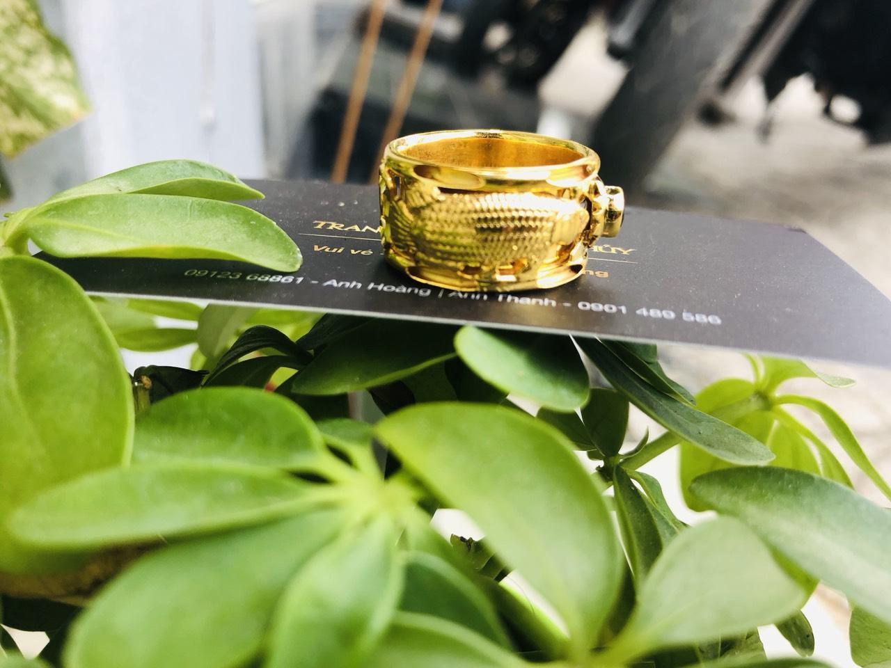 Nhẫn lông voi vàng nam đẹp cá chép giá rẻ