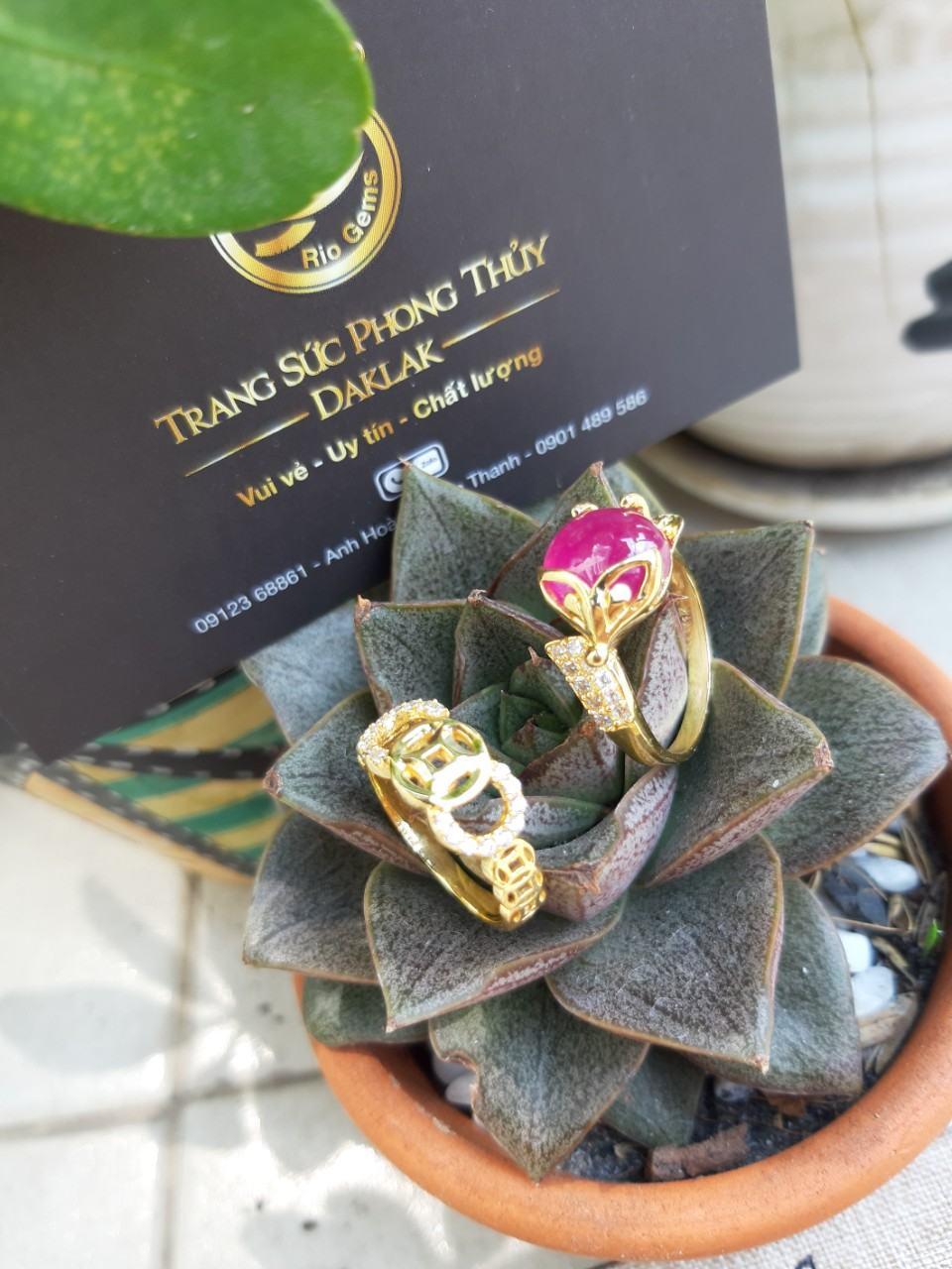 Nhẫn lông voi mới hồ ly Riogems chất lượng