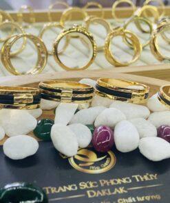 Nhẫn lông voi 1 sợi làm tay 6li vàng phong thủy RIOGEMs